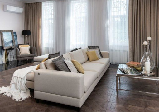 Private apartments with Upholstered Furniture From Delavega: Bed K14, corner sofa F112