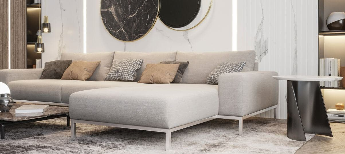 Як підібрати розмір кутового дивана для різних приміщень