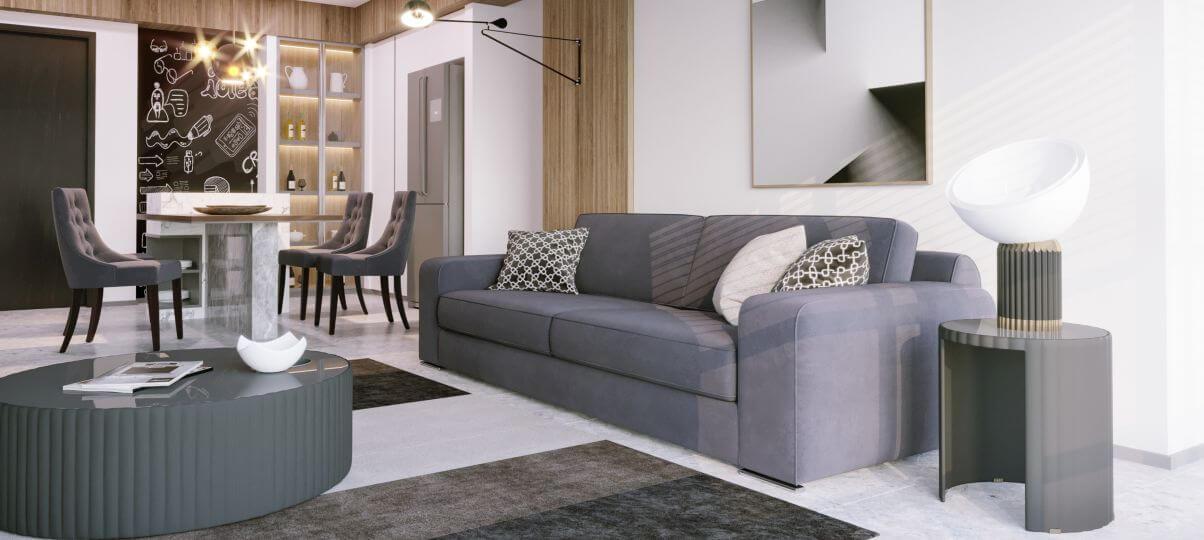 Прямий диван Delavega A30 в вітальню