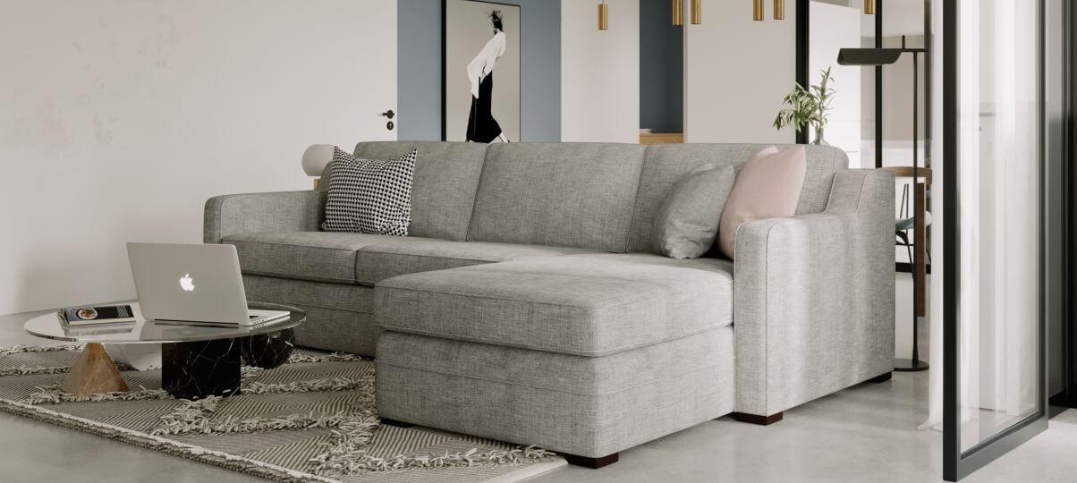 Невеликий кутовий диван для компактних приміщень