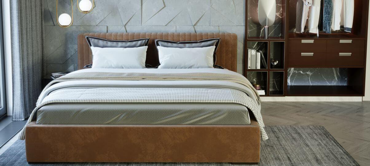 Двоспальне ліжко з ящиком для білизни (Дніпро)