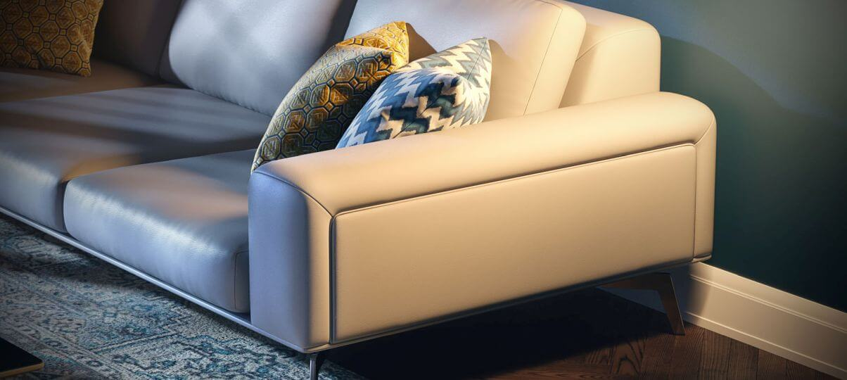 Как ухаживать за светлым кожаным диваном?