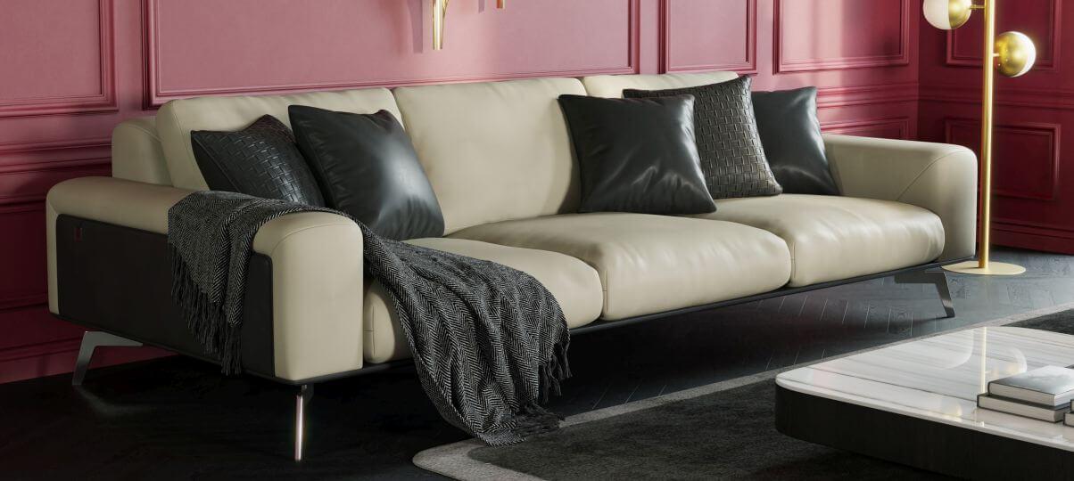 Кожаный диван Delavega