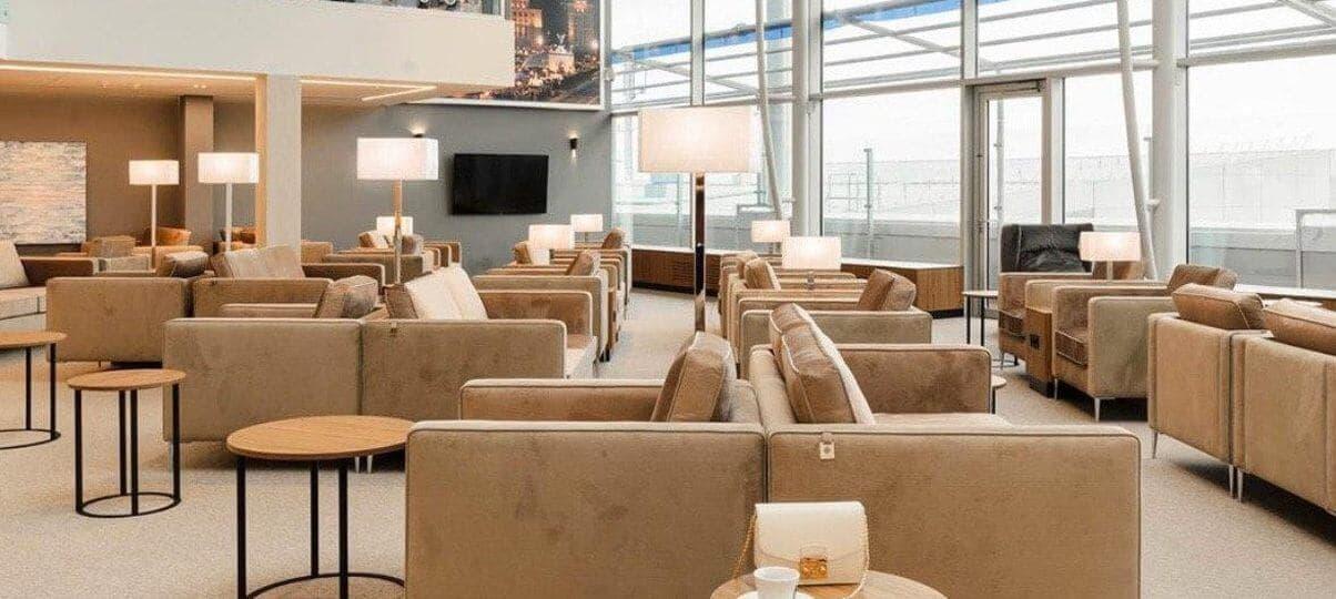 Upholstered furniture Delavega at the international airport Boryspil
