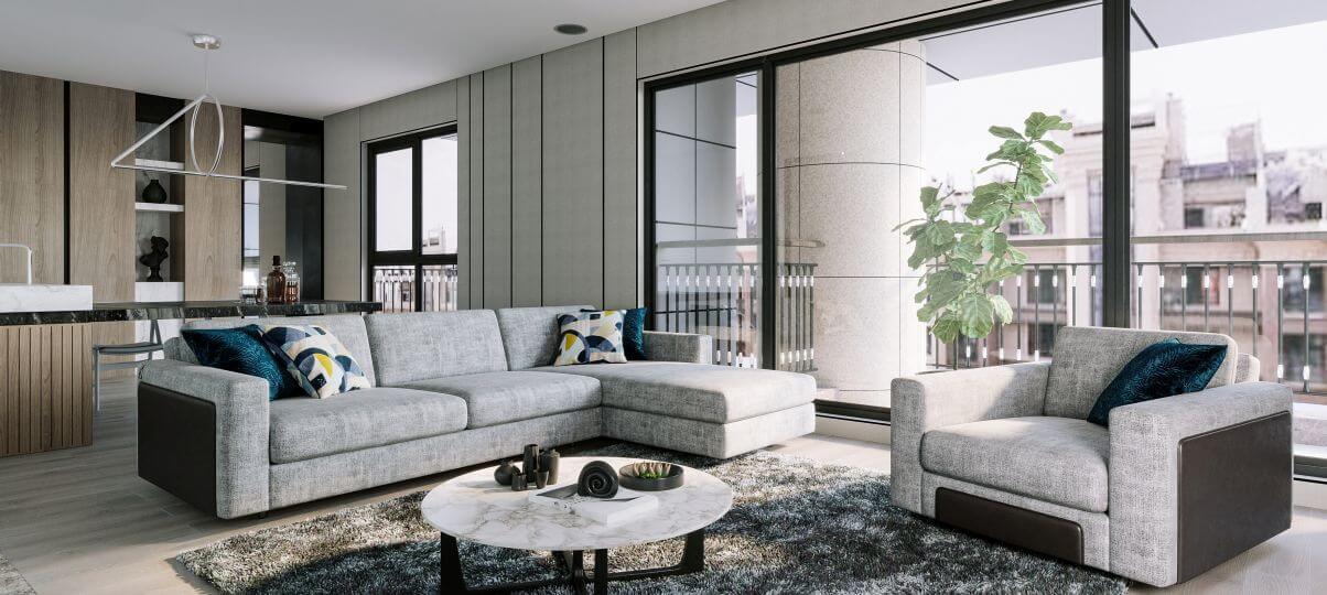 Как смотрится цвет мягкой мебели в интерьере на фото
